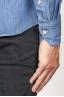 SBU 00924 Clásica camisa azul indigo natural de algodón con cuello de punta 06