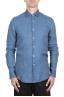 SBU 03352_2021SS Classic indigo blue linen shirt 01