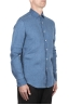 SBU 03352_2021SS Classic indigo blue linen shirt 02