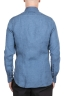 SBU 03352_2021SS Classic indigo blue linen shirt 05
