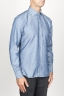 SBU 00925 Classic point collar natural light indigo blue cotton shirt 02