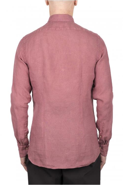 SBU 03354_2021SS Camisa clásica de lino roja 01