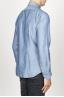 SBU 00925 Clásica camisa azul indigo claro natural de algodón con cuello de punta  03