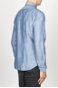 SBU 00925 Classic point collar natural light indigo blue cotton shirt 03