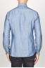 SBU 00925 古典的なポイントカラー自然光インジゴブルーの綿のシャツ 04