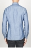 SBU 00925 Classic point collar natural light indigo blue cotton shirt 04