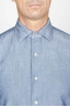 SBU 00925 Camicia classica collo a punta in cotone blue indaco chiaro 05