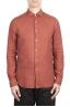 SBU 03362_2021SS Classic brick red linen shirt 01