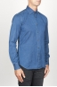 SBU 00926 クラシックなポイントカラーナチュラルダークインディゴブルーコットンシャツ 02