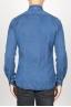 SBU 00926 Clásica camisa azul indigo oscuro natural de algodón con cuello de punta  04