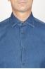SBU 00926 クラシックなポイントカラーナチュラルダークインディゴブルーコットンシャツ 05