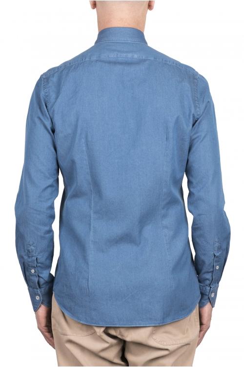 SBU 03369_2021SS インディゴブルーデニムコットンシャツ 01