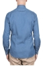 SBU 03369_2021SS Indigo blue denim cotton shirt 04