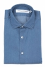 SBU 03369_2021SS Indigo blue denim cotton shirt 05