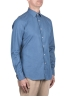 SBU 03369_2021SS Indigo blue denim cotton shirt 06