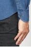 SBU 00926 Camicia classica collo a punta in cotone blue indaco scuro 06