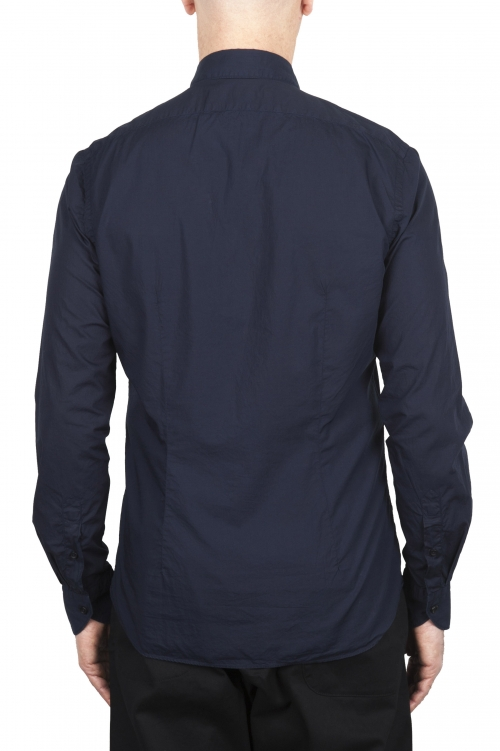 SBU 03371_2021SS Camisa super ligera de algodón azul 01
