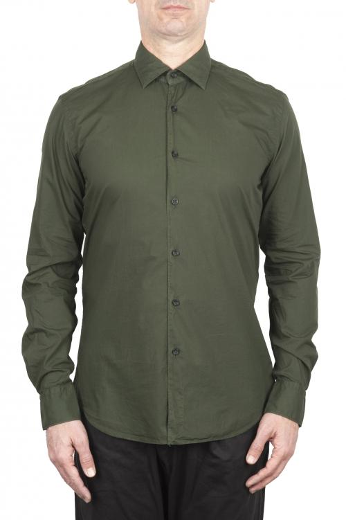 SBU 03374_2021SS グリーンの超軽量コットンシャツ 01