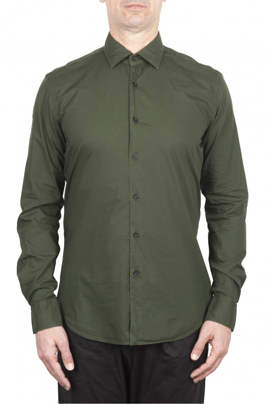 SBU 03374_2021SS Green super light cotton shirt 01