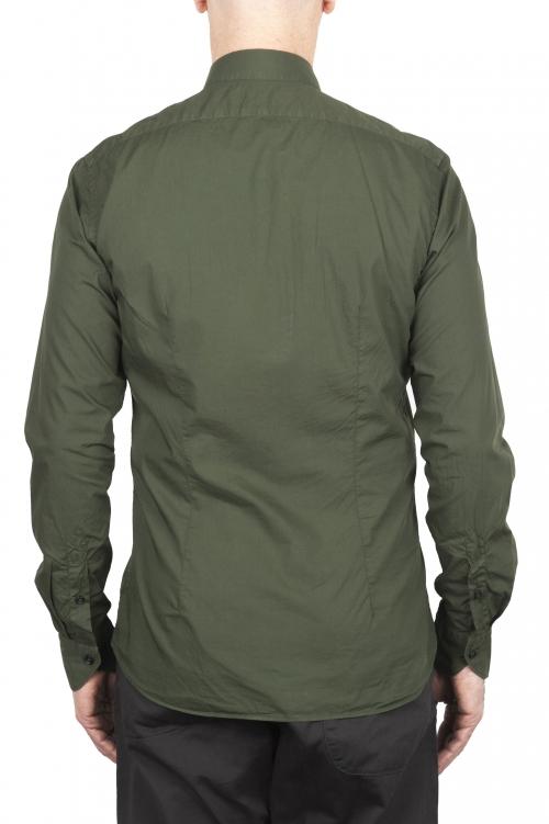 SBU 03374_2021SS Camisa super ligera de algodón verde 01