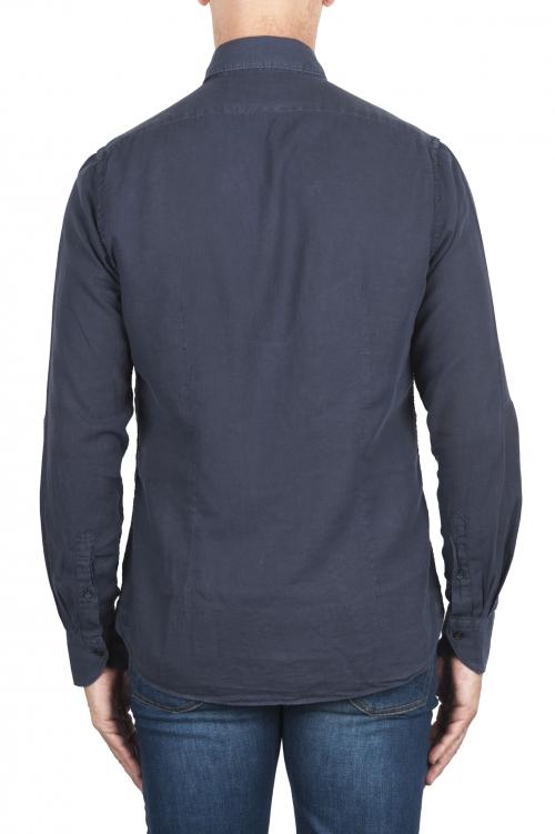 SBU 03376_2021SS ブルーネイビーコットンツイルシャツ 01