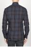 SBU 00927 Clásica camisa azul madras de cuadros de algodón con cuello de punta  04
