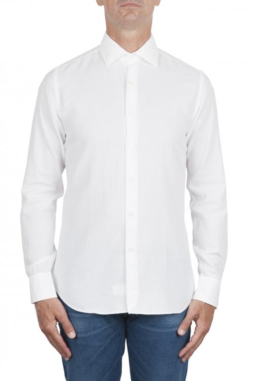 SBU 03379_2021SS Camicia in twill di cotone bianca 01