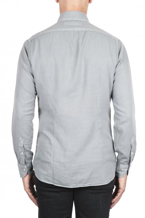 SBU 03380_2021SS Camicia in twill di cotone grigia 01