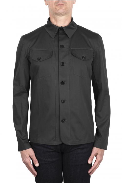 SBU 03383_2021SS Camicia in cotone tecnico grigio 01