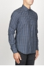 SBU 00928 Classic point collar blue checkered cotton shirt 02