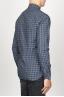 SBU 00928 クラシックなポイントの襟青いチェッカーの綿のシャツ 03