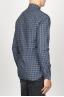 SBU 00928 Classic point collar blue checkered cotton shirt 03