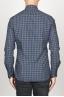 SBU 00928 クラシックなポイントの襟青いチェッカーの綿のシャツ 04
