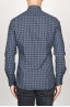 SBU 00928 Classic point collar blue checkered cotton shirt 04