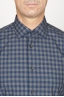 SBU 00928 Classic point collar blue checkered cotton shirt 05