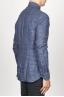 SBU 00929 Clásica camisa gris de cuadros de lino con cuello de punta  03