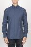 SBU 00930 Clásica camisa azul de franela de algodón con cuello de punta  01