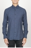 SBU 00930 Classic point collar blue cotton flannel shirt 01