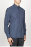 SBU 00930 Classic point collar blue cotton flannel shirt 02