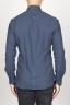 SBU 00930 Clásica camisa azul de franela de algodón con cuello de punta  04