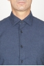 SBU 00930 Classic point collar blue cotton flannel shirt 05