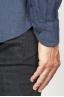 SBU 00930 Camicia classica collo a punta in flanella di cotone blue 06