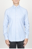 SBU 00931 Classic point collar light blue cotton flannel shirt 01