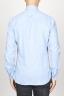 SBU 00931 Clásica camisa azul claro de franela de algodón con cuello de punta 04