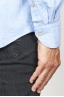 SBU 00931 Camicia classica collo a punta in flanella di cotone celeste 06