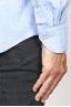 SBU 00931 Clásica camisa azul claro de franela de algodón con cuello de punta 06