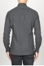 SBU 00932 クラシックなポイントの襟の灰色の綿のネルシャツ 04