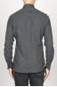 SBU 00932 Clásica camisa gris de franela de algodón con cuello de punta 04