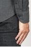 SBU 00932 クラシックなポイントの襟の灰色の綿のネルシャツ 06
