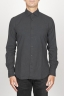 SBU 00933 Clásica camisa negra de franela de algodón con cuello de punta  01